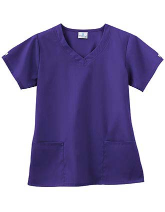 White Swan Fundamentals Ladies Overlap V-Neck Scrub Top