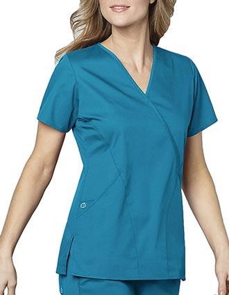 Wink Scrubs Women's Mock Wrap Nursing Scrub Top