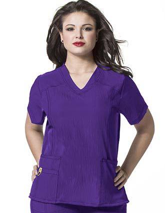 Wink Scrubs WonderWink Plus Curved V-Neck Nurse Scrub Top