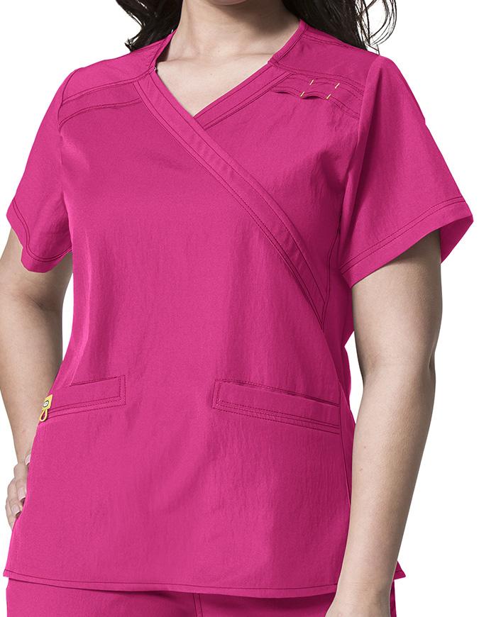 Wink Scrubs WonderWink Plus Mock Wrap Nursing Scrub Top