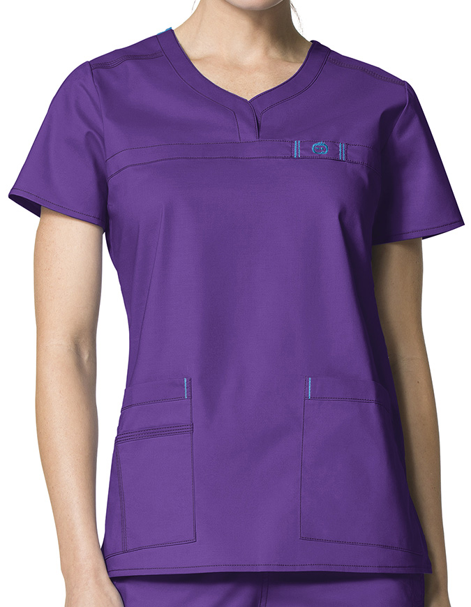 Wink Scrubs Lady Fit Curved Notch-Neck Nursing Scrub Top