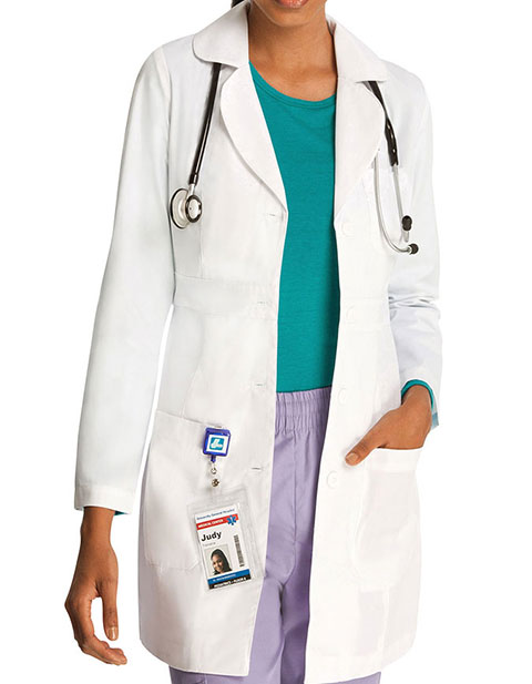 Adar Universal Women's 33 Inches Adjustable Belt Lab Coat