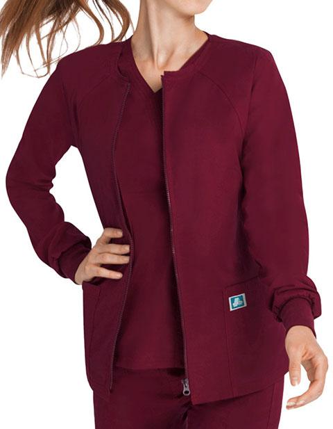ADAR Pop-Stretch Junior Fit Women's Zip Front Warm up Jacket
