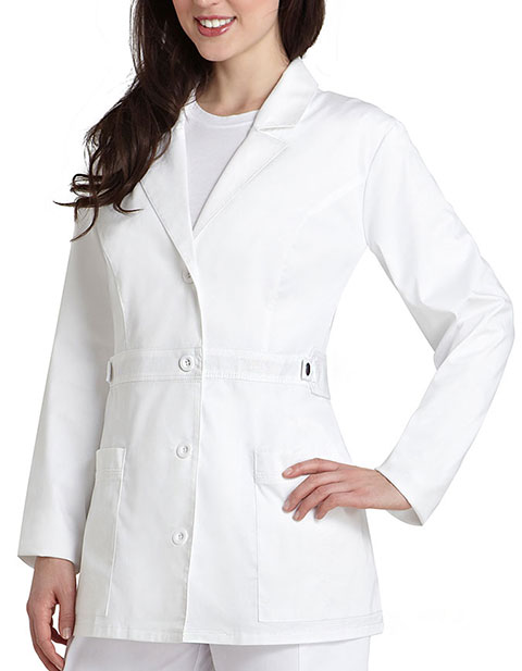 Adar Pop-Stretch Junior Fit Women's 28 Inch Tab-Waist Lab Coat