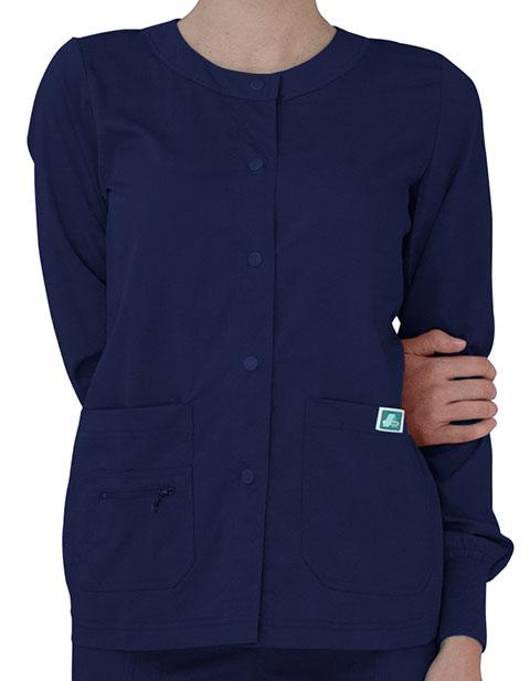 Adar Indulgence Women's Jr. Fit Multi Pocket Warm-Up Jacket