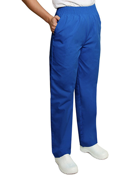 Adar Women Two Pockets Elastic Waist Medical Scrub Pants