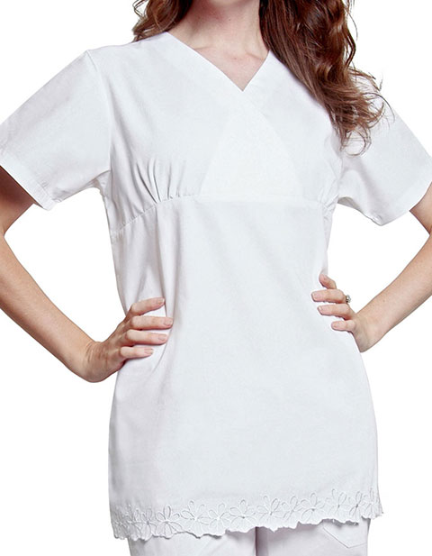 Adar Women Two Pocket Empire Cut Tunic Uniform Scrubs