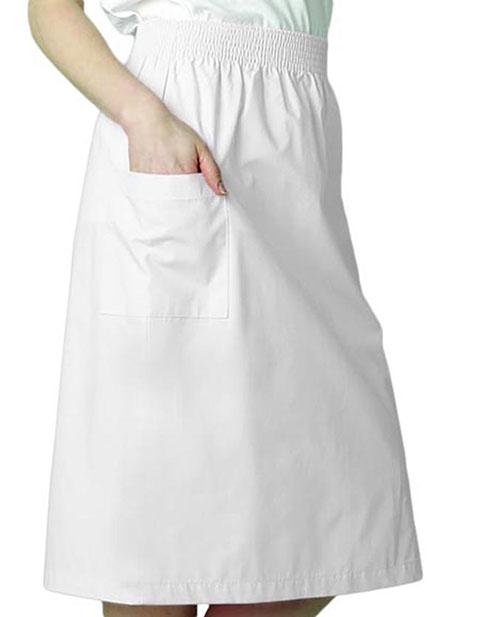 Adar Nurses Two Pocket A-Line Knee Length Uniform Skirt