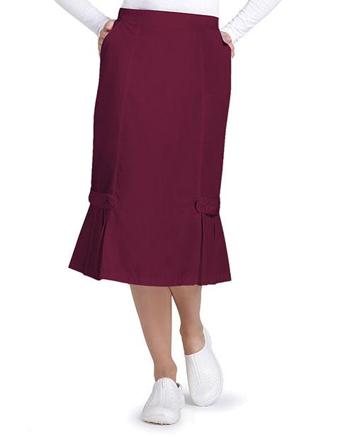 Adar Universal Women's Tabbed Pleat Panel Skirt