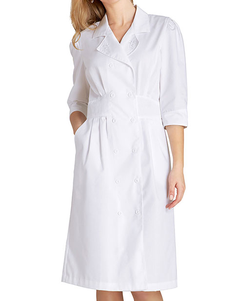 Adar Woman Tuck Pleat Midriff Medical Nurses Dress