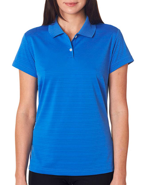 Adidas Ladies' ClimaLite Textured Solid Polo