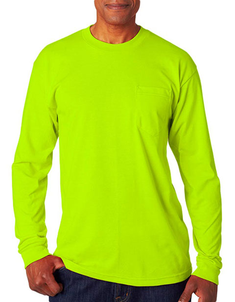 Bayside Adult Long-Sleeve Tee with Pocket