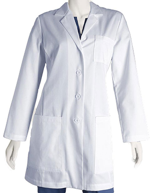Barco Women's 34 inch Five Pocket Princess Lab Coat