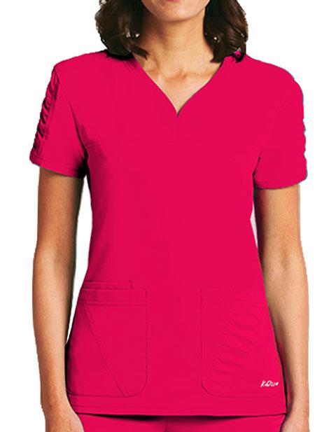 Barco KD110 Women's Three Pockets Sweatheart Neck Top