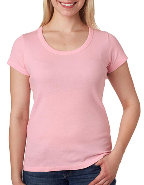 1003 Bella+Canvas Ladies' Baby Rib Short-Sleeve Scoop-Neck Tee