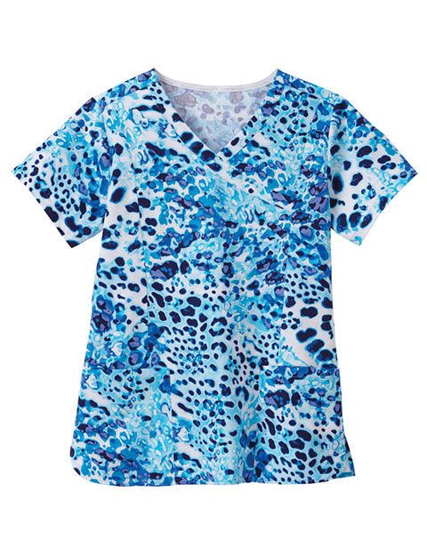 Bio Women'S Printed Mockwarp Top
