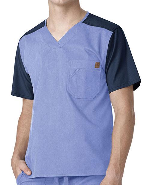 Carhartt Mens Color Block Nurse Scrub Utility Top