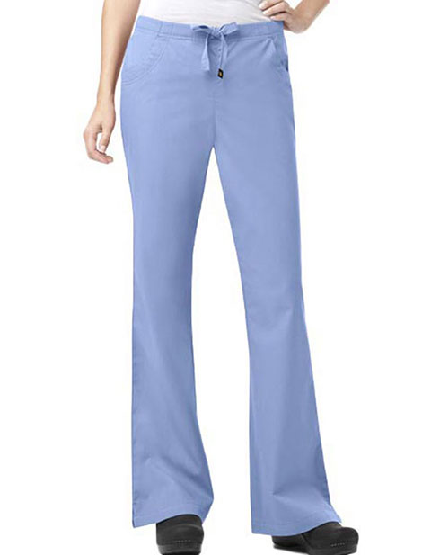 Carhartt Scrubs Women Three-Pocket Petite Flare Leg Nursing Pants