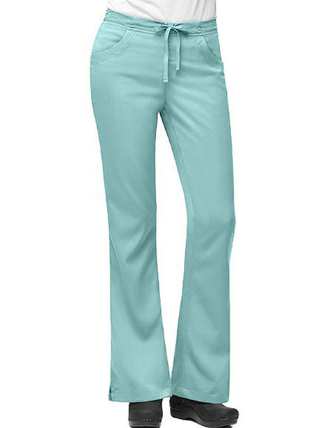 Carhartt Scrubs Women 3-Pocket Petite Flare-Leg Solid Nursing Pants