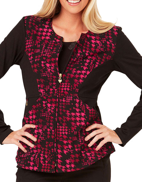Careisma Hollywood Royalty Women's Haute In Houndstooth Printed Jacket