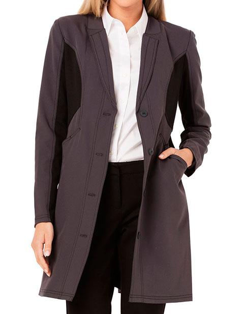 Careisma Fearless Womens 33 Inches Black Contrast Scrub Lab Coat