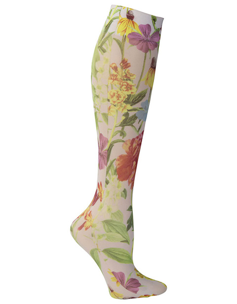 Celeste Stein Women's Knee High 8-15 mmHg Compression White Bellagio Hoisery