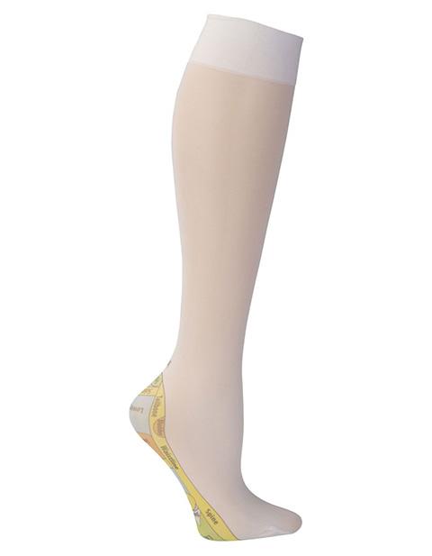 Celeste Stein Women's Knee High 8-15 mmHg Compression Reflexology Hoisery