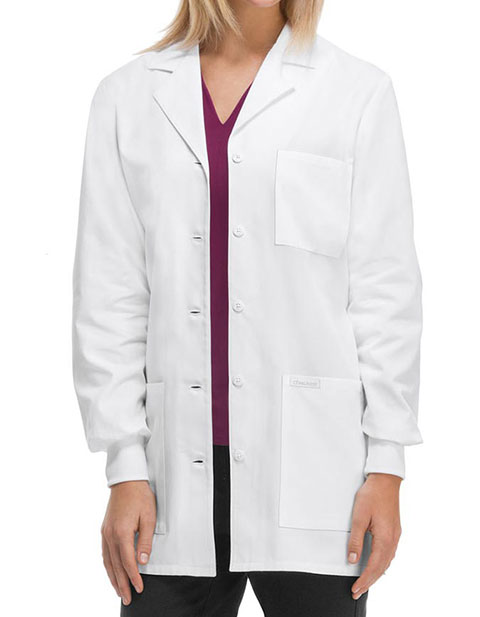 Cherokee's Professional Whites with Certainty Women's Fluid Barrier 32 Inches Lab Coat