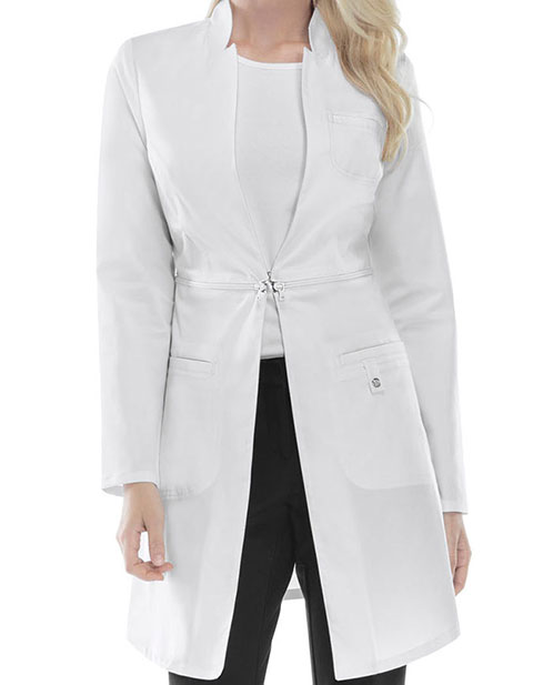 Cherokee Luxe Women's Contemporary 32 Inches Lab Coat