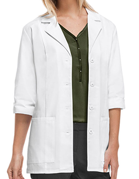 Cherokee Women's Two Pocket 30 Inches Short Medical Lab Coat