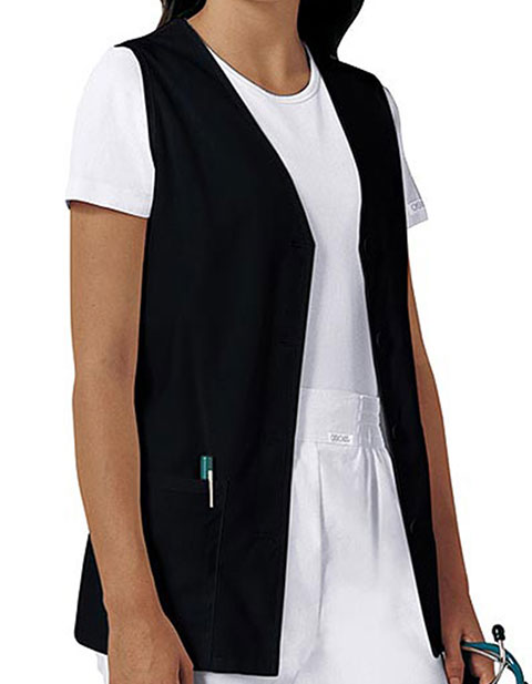 Cherokee Women's Two Pocket Button Front Nurse Vest