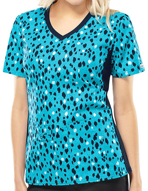 Cherokee Petal Fur Your Thoughts Women's Purrfect Love Knit Panel Top