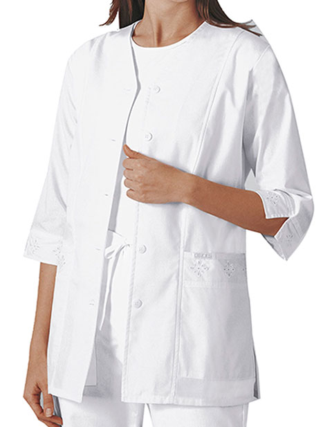 Cherokee Womens 29.5 inch Three Quarter Sleeve Medical Scrub Jacket