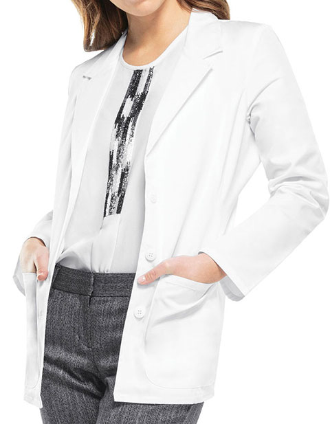 Cherokee Womens Blazer Style Two Pocket 28 Inches Short Lab Coat