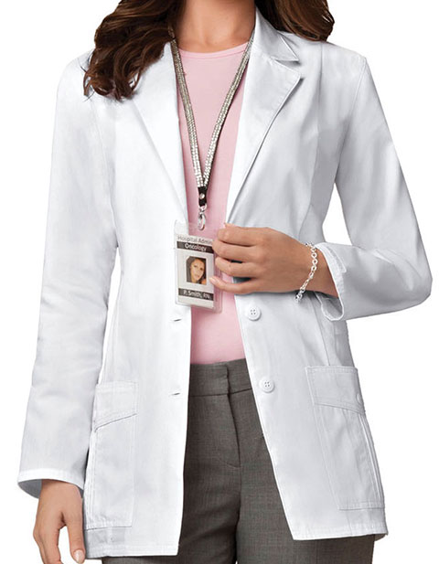Cherokee Womens Natural Beauty 30 inch Short Medical Lab Coat
