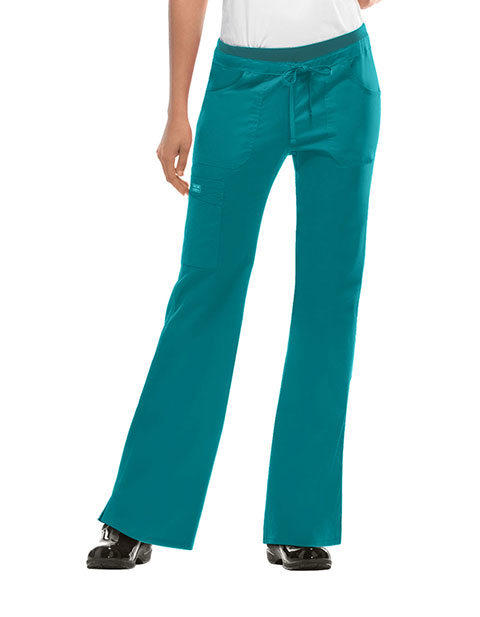 Cherokee WorkWear Women's Junior Flare Drawstring Petite Scrub Pants