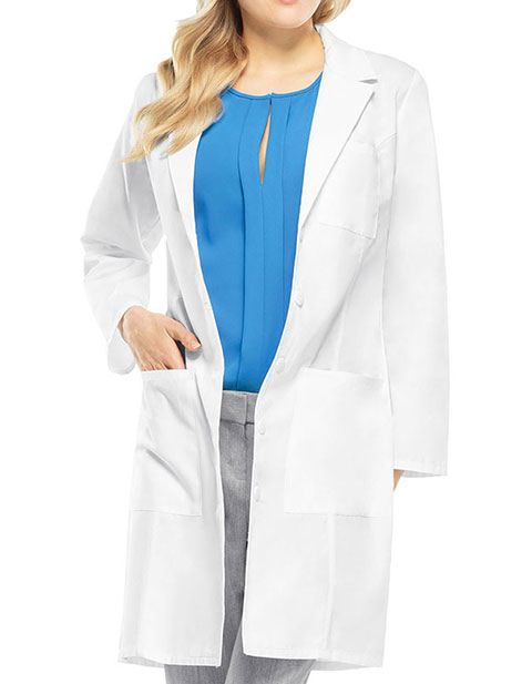 Cherokee Womens Four Pocket 37 Inch Long Consultation Lab Coat