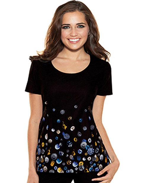 Office 365 Cherokee >> Buy Baby Phat Womens Round Neck Buttons And Bling Scrub Top for $16.45