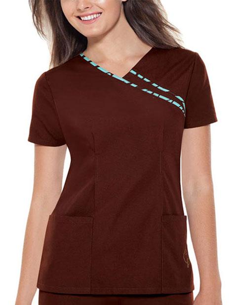 Office 365 Cherokee >> Buy Baby Phat Women Brown V-Neck Nursing Scrub Top for $14.45