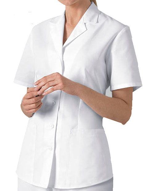 Cherokee Women Two Pocket White Nursing Scrub Top