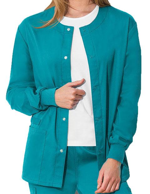 Cherokee Workwear WW Flex Unisex with Certainty Snap Front Warm-up Jacket