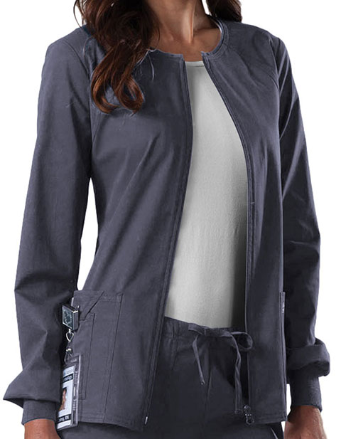 Cherokee Workwear Women's Zip Front Warm Up Jacket