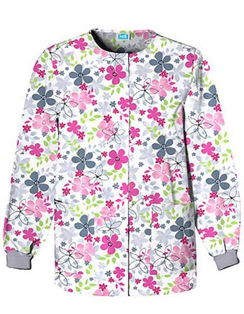 Cherokee HQ Women Sunnyvale Snap Front Warm-Up Scrub Jacket