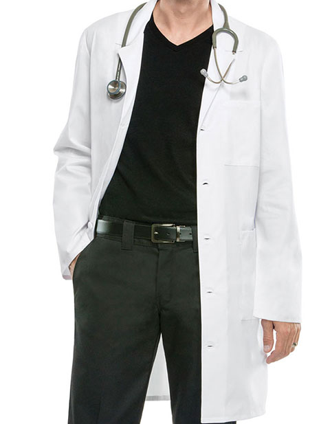 Cherokee Workwear Unisex 38 inch Notched Lapel Neckline Lab Coat
