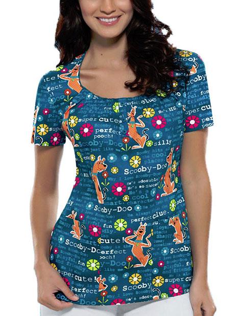 Office 365 Cherokee >> Buy Tooniforms Women Scooby So Sweet Round Neck Nursing Scrub Top for $22.45