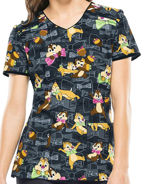Tooniforms Disney Women's All Tied Up V-Neck Top