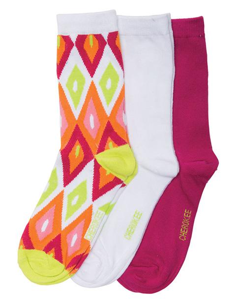 Cherokee Women's 1-3pr Pack Crew Socks