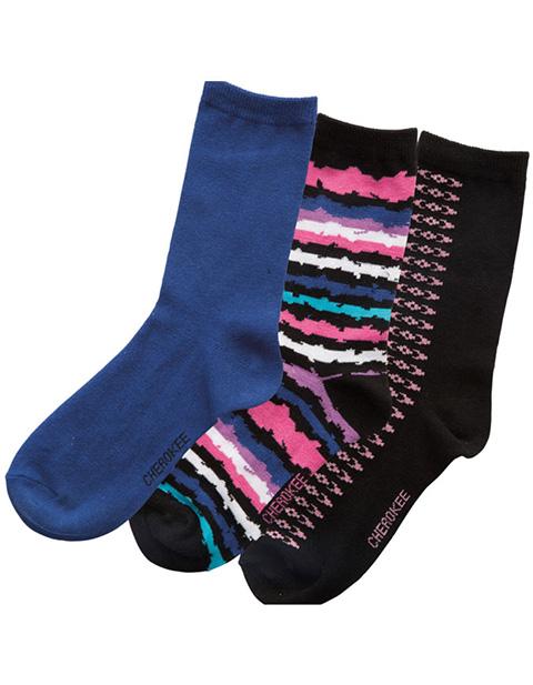 Cherokee Women's 1-3pr Pack Assorted Crew Socks