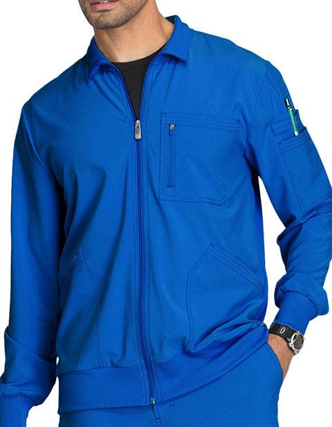 Cherokee Infinity Men's Zip Front Warm-Up Scrub Jacket