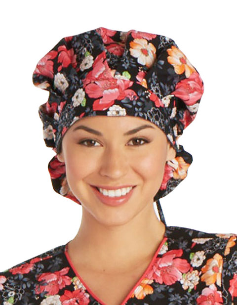 Cherokee Unisex Fleur-Ever Yours Bouffant Scrub Hat